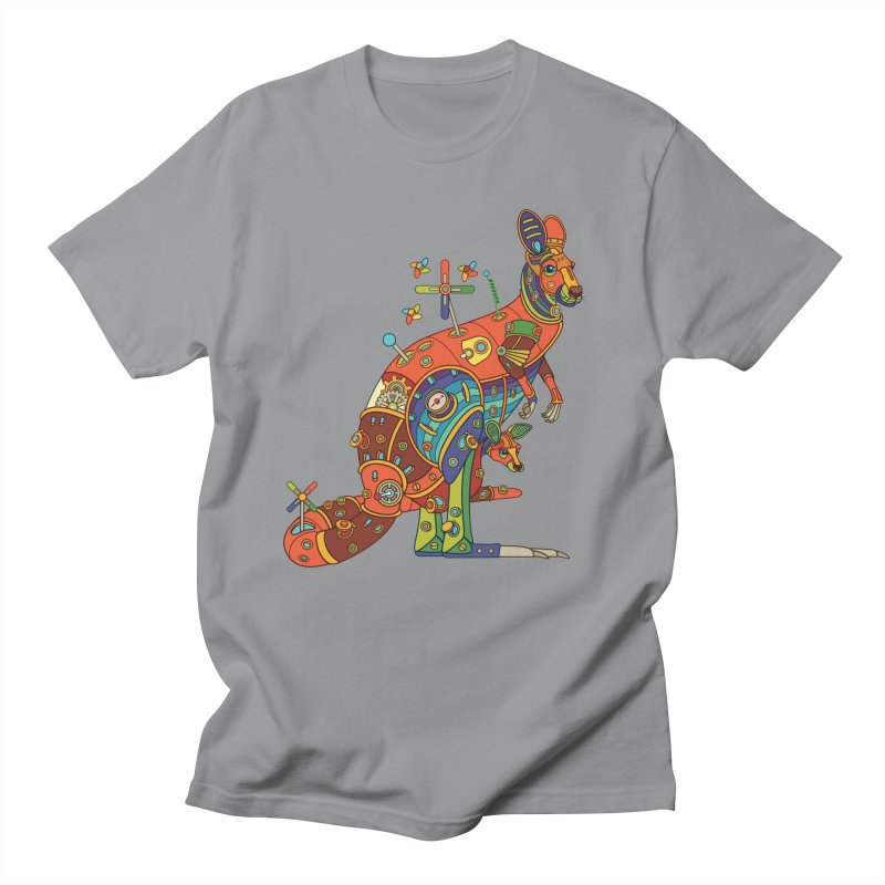 Kangaroo, cool art from the AlphaPod Collection Men's Regular T-Shirt by AlphaPod