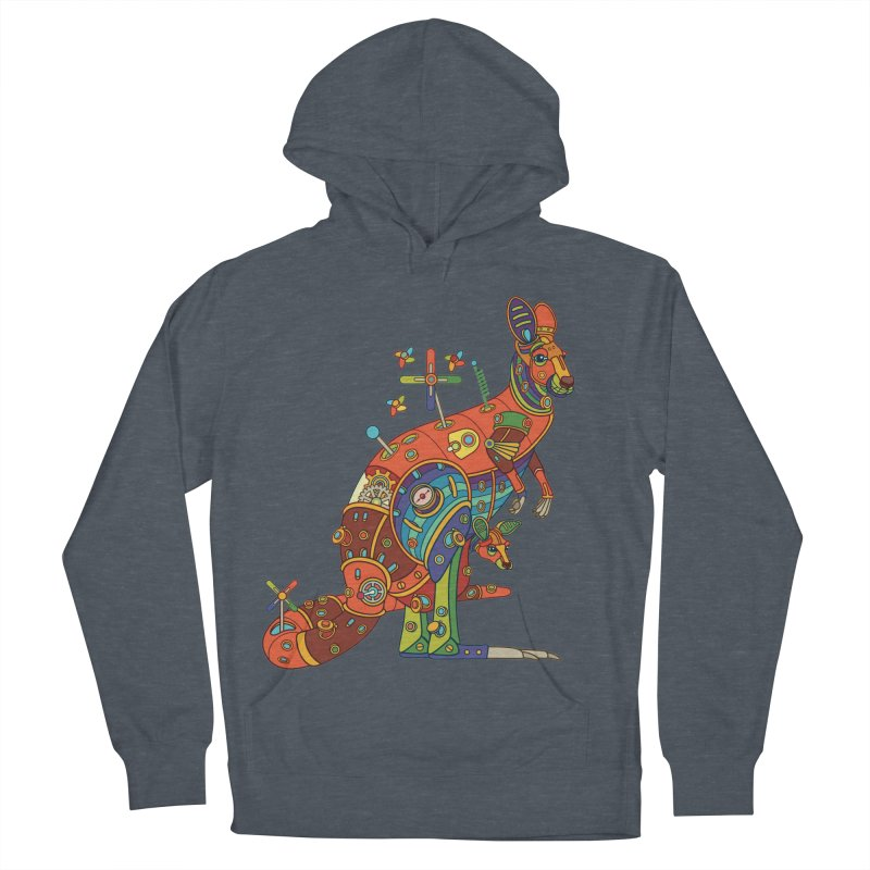 Kangaroo, cool art from the AlphaPod Collection Women's French Terry Pullover Hoody by AlphaPod
