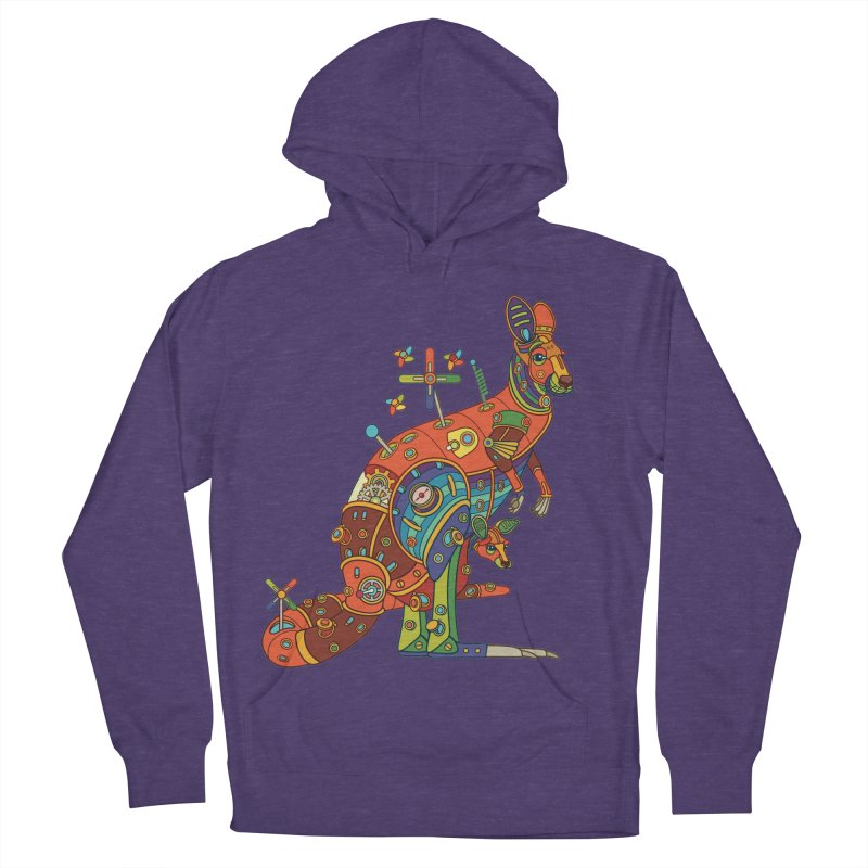 Kangaroo, cool art from the AlphaPod Collection Men's French Terry Pullover Hoody by AlphaPod