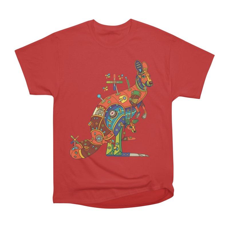 Kangaroo, cool art from the AlphaPod Collection Men's Heavyweight T-Shirt by AlphaPod