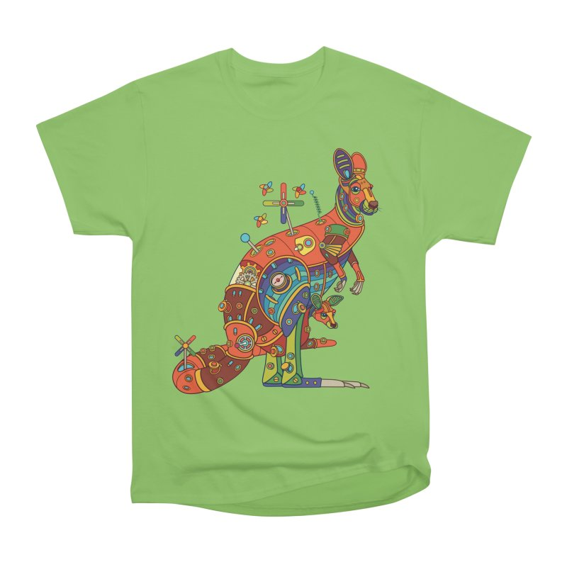 Kangaroo, cool art from the AlphaPod Collection Men's Heavyweight T-Shirt by AlphaPod