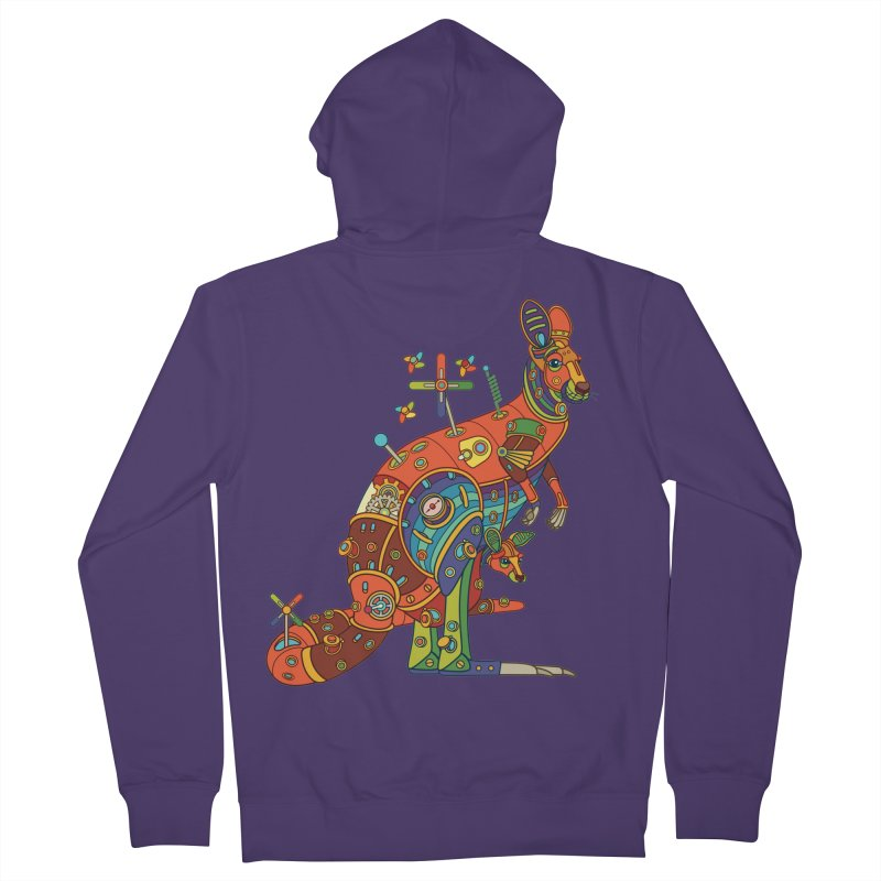 Kangaroo, cool art from the AlphaPod Collection Women's Zip-Up Hoody by AlphaPod