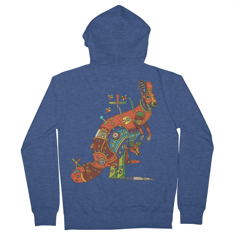 Kangaroo, cool art from the AlphaPod Collection Men's French Terry Zip-Up Hoody by AlphaPod