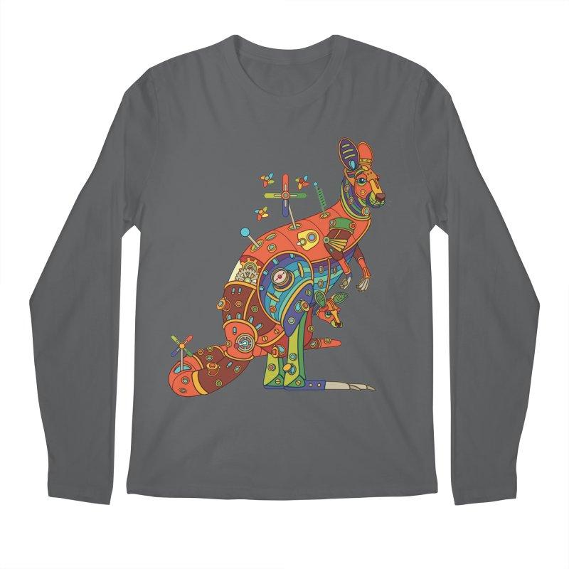 Kangaroo, cool art from the AlphaPod Collection Men's Longsleeve T-Shirt by AlphaPod