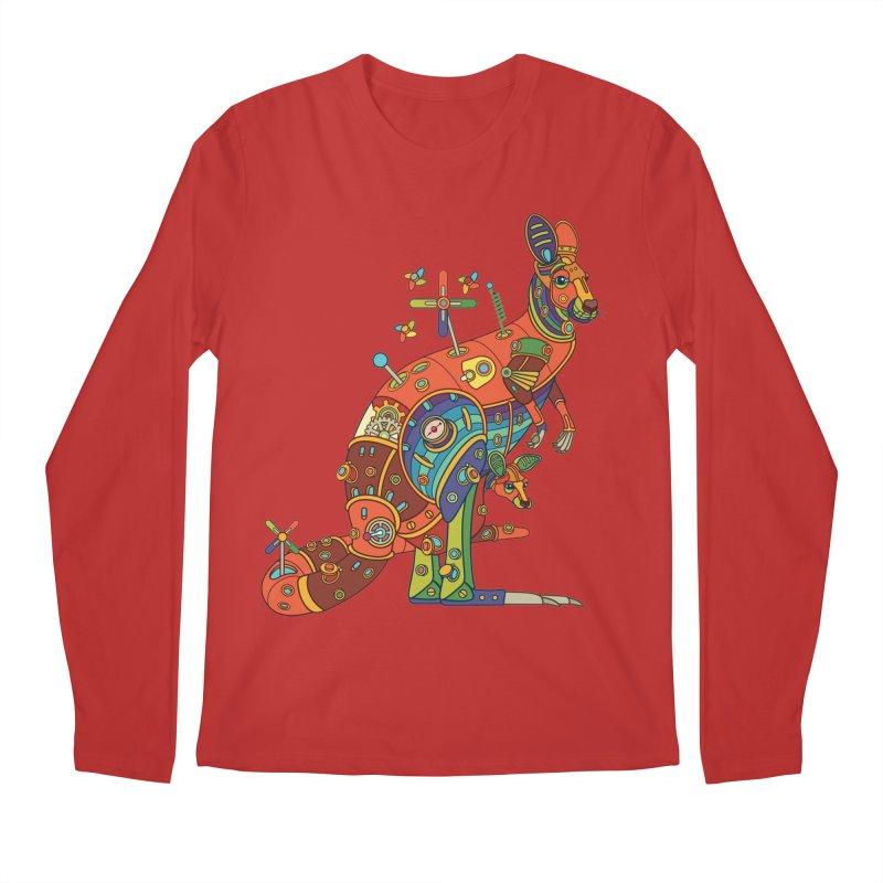 Kangaroo, cool art from the AlphaPod Collection Men's Regular Longsleeve T-Shirt by AlphaPod