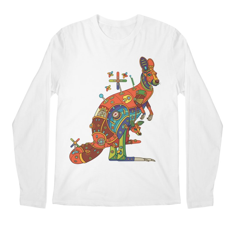 Kangaroo, cool art from the AlphaPod Collection Men's Regular Longsleeve T-Shirt by AlphaPod
