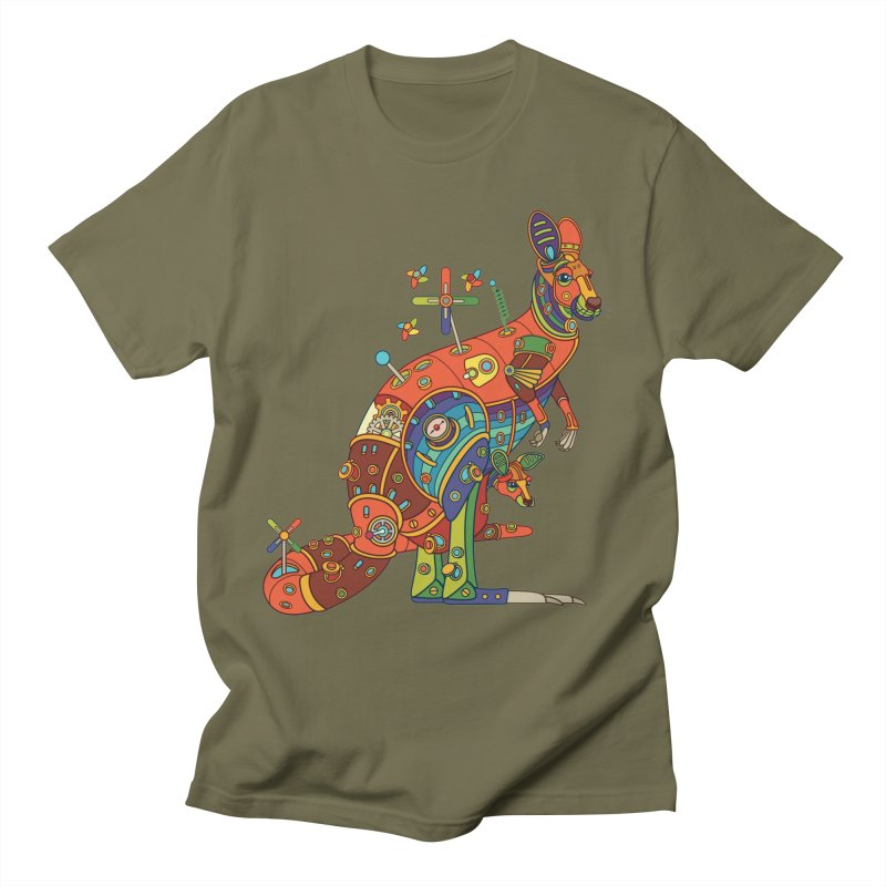 Kangaroo, cool art from the AlphaPod Collection Men's T-Shirt by AlphaPod