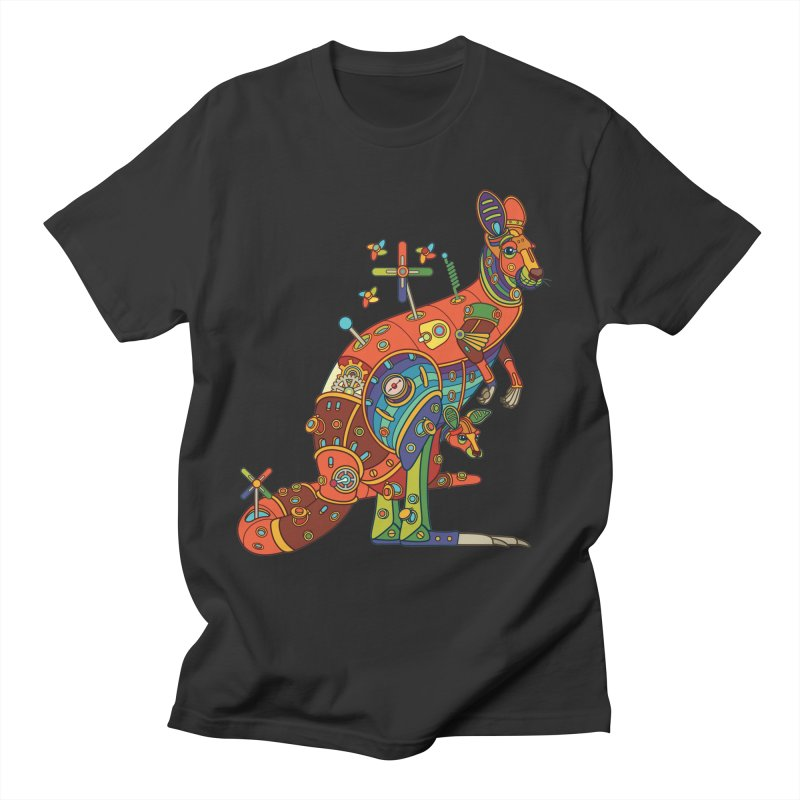Kangaroo, cool art from the AlphaPod Collection Men's Regular T-Shirt by AlphaPod
