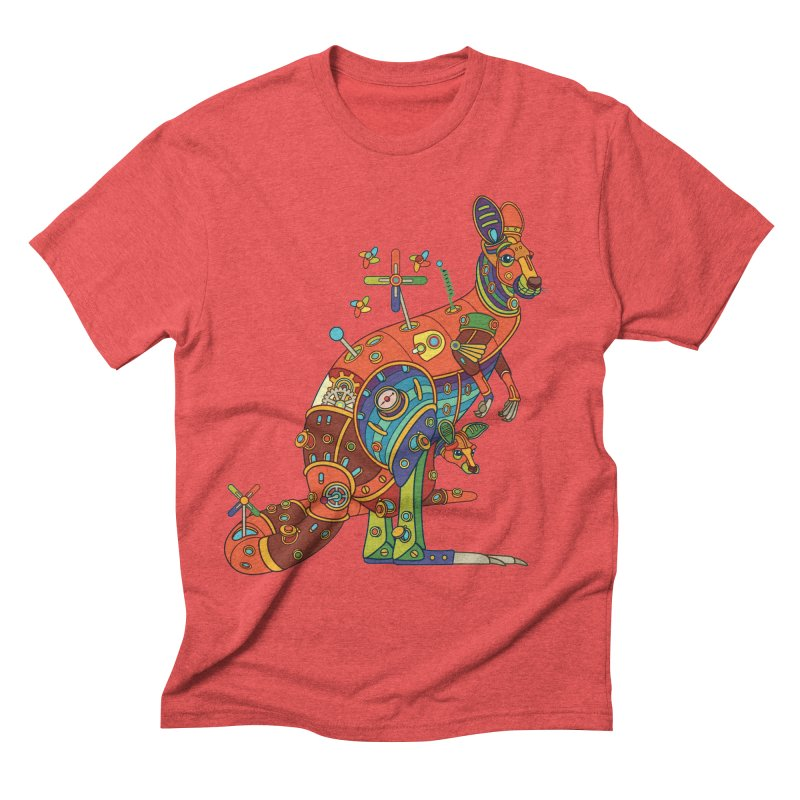 Kangaroo, cool art from the AlphaPod Collection Men's Triblend T-Shirt by AlphaPod