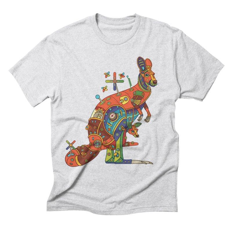 Kangaroo, cool art from the AlphaPod Collection Men's Triblend T-Shirt by AlphaPod