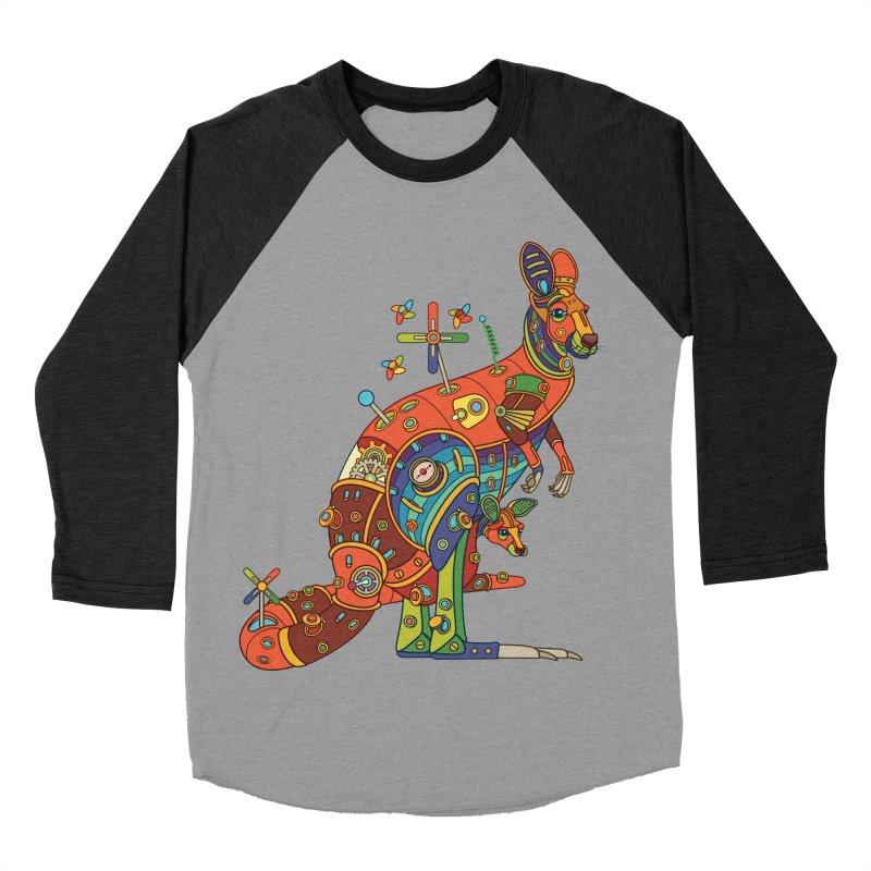 Kangaroo, cool art from the AlphaPod Collection Women's Baseball Triblend T-Shirt by AlphaPod