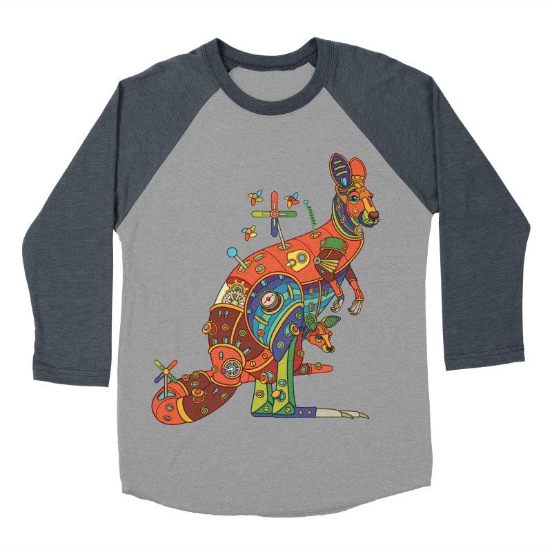 Kangaroo, cool art from the AlphaPod Collection Men's Baseball Triblend Longsleeve T-Shirt by AlphaPod