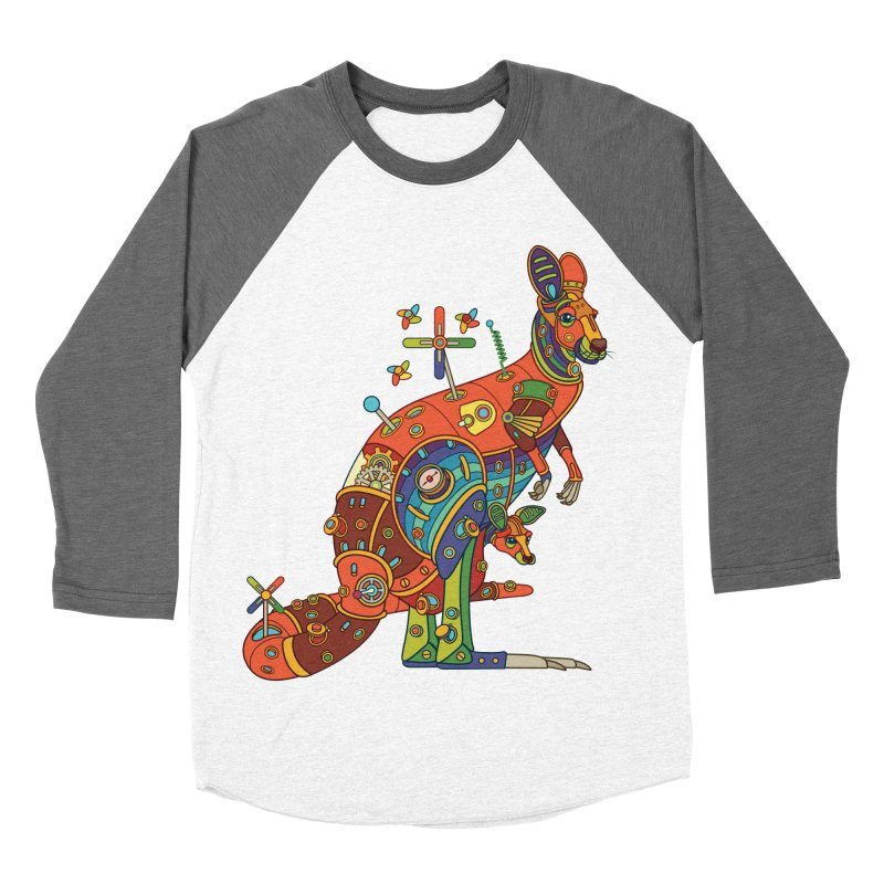 Kangaroo, cool art from the AlphaPod Collection Men's Baseball Triblend Longsleeve T-Shirt by AlphaPod