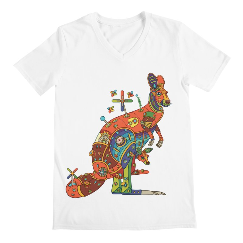 Kangaroo, cool art from the AlphaPod Collection Men's Regular V-Neck by AlphaPod
