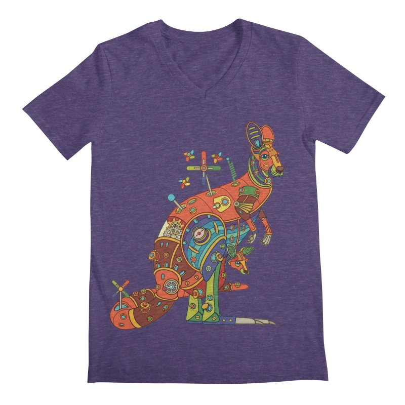 Kangaroo, cool art from the AlphaPod Collection Men's V-Neck by AlphaPod