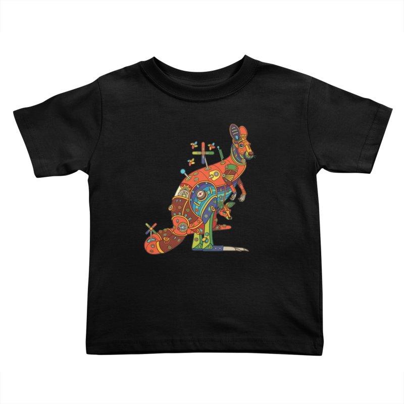 Kangaroo, cool art from the AlphaPod Collection Kids Toddler T-Shirt by AlphaPod