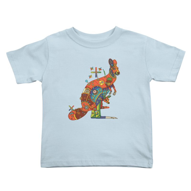 Kangaroo, cool art from the AlphaPod Collection Kids Toddler T-Shirt by AlphaPod