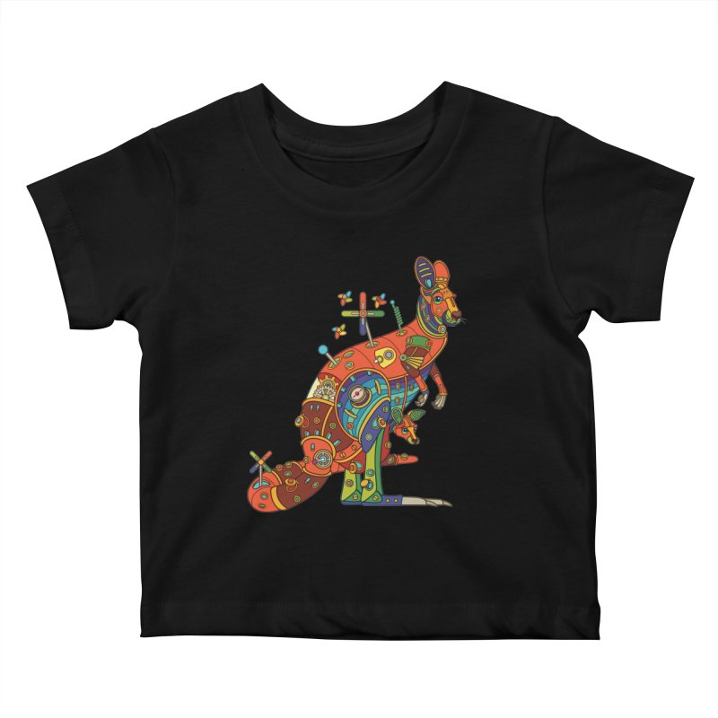 Kangaroo, cool wall art for kids and adults alike Kids Baby T-Shirt by AlphaPod
