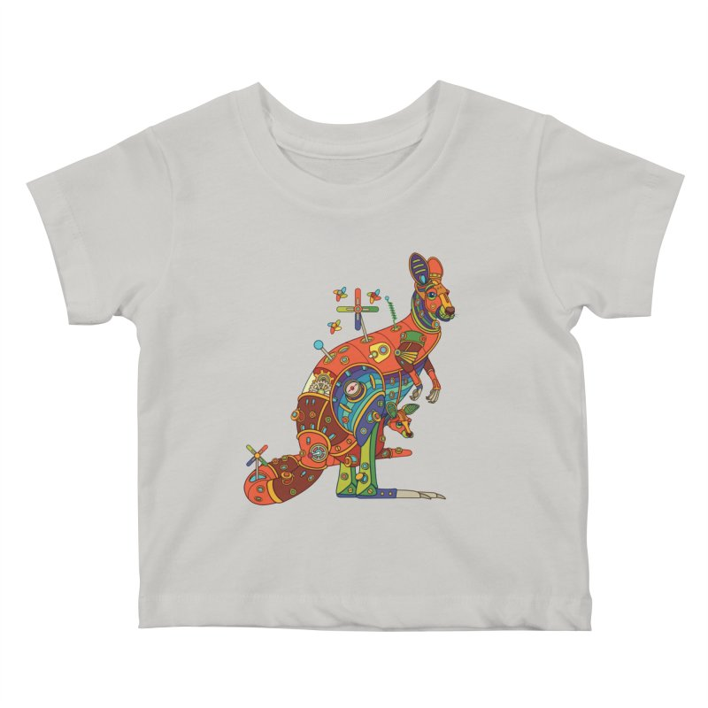 Kangaroo, cool art from the AlphaPod Collection Kids Baby T-Shirt by AlphaPod