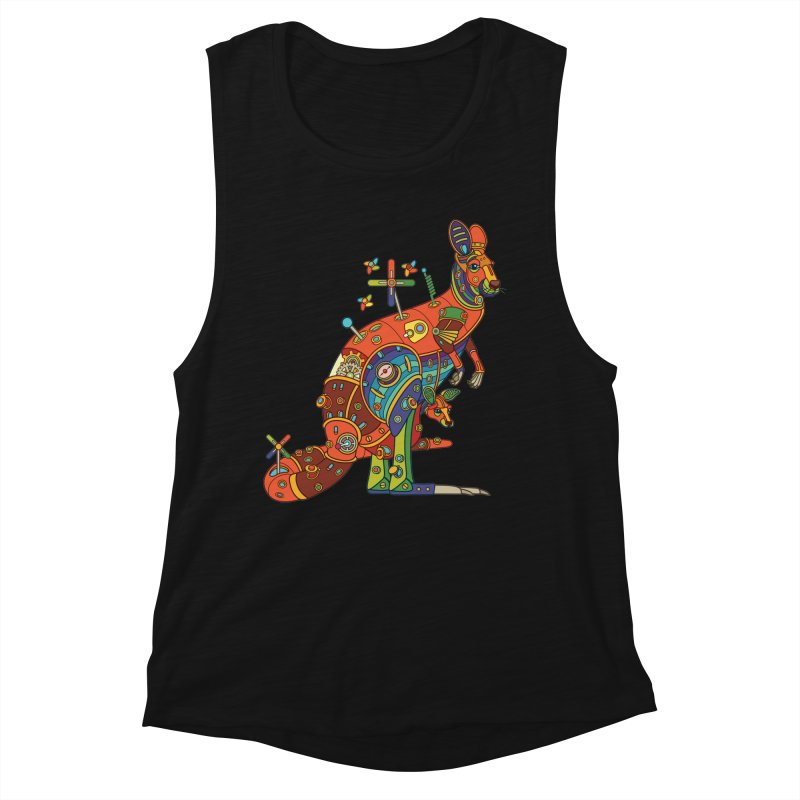 Kangaroo, cool art from the AlphaPod Collection Women's Tank by AlphaPod