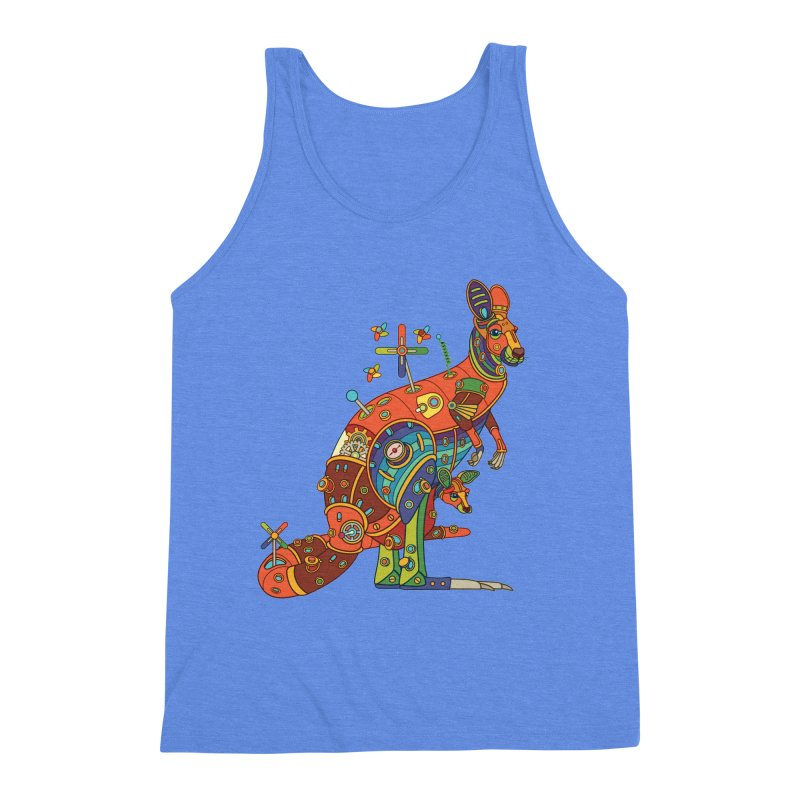 Kangaroo, cool art from the AlphaPod Collection Men's Triblend Tank by AlphaPod