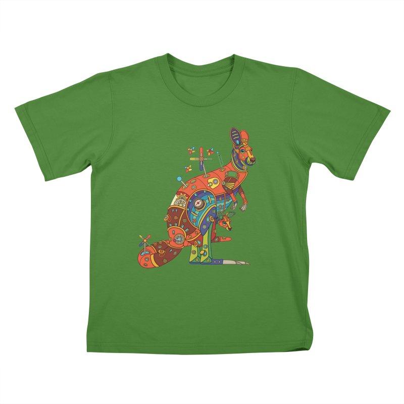 Kangaroo, cool art from the AlphaPod Collection Kids T-Shirt by AlphaPod