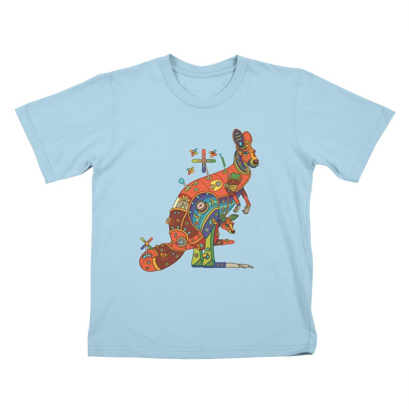Kangaroo, cool art from the AlphaPod Collection Kids T-Shirt by AlphaPod