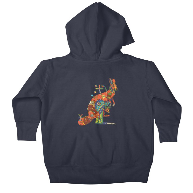 Kangaroo, cool art from the AlphaPod Collection Kids Baby Zip-Up Hoody by AlphaPod