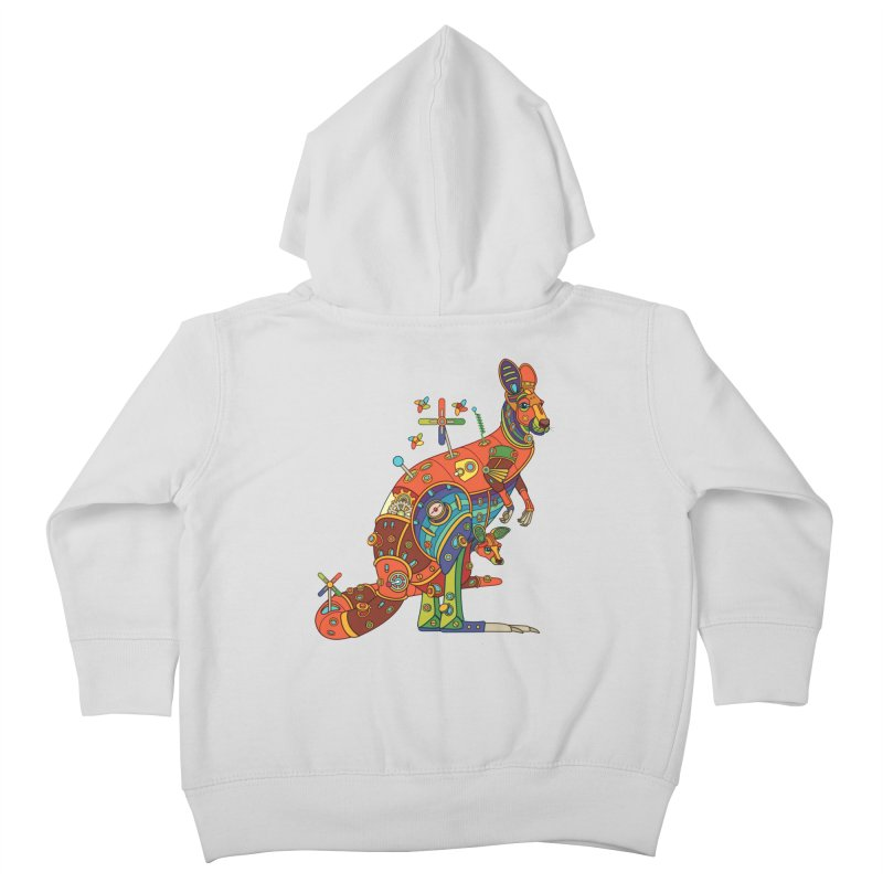 Kangaroo, cool art from the AlphaPod Collection Kids Toddler Zip-Up Hoody by AlphaPod