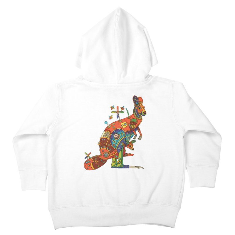 Kangaroo, cool wall art for kids and adults alike Kids Toddler Zip-Up Hoody by AlphaPod