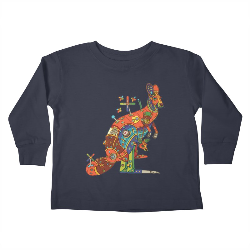 Kangaroo, cool art from the AlphaPod Collection Kids Toddler Longsleeve T-Shirt by AlphaPod