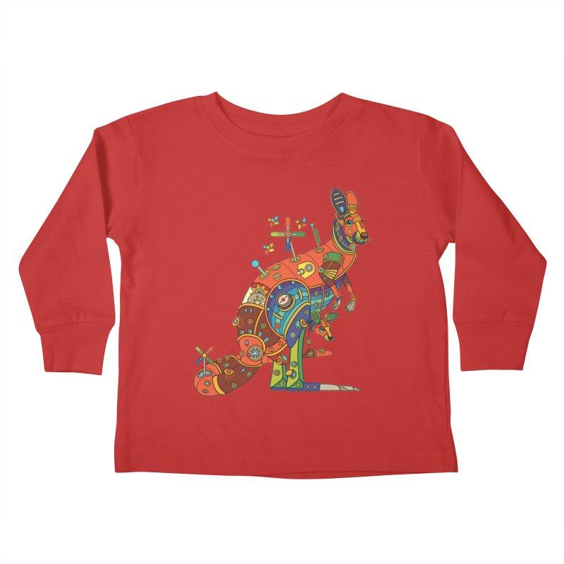 Kangaroo, cool art from the AlphaPod Collection Kids Toddler Longsleeve T-Shirt by AlphaPod