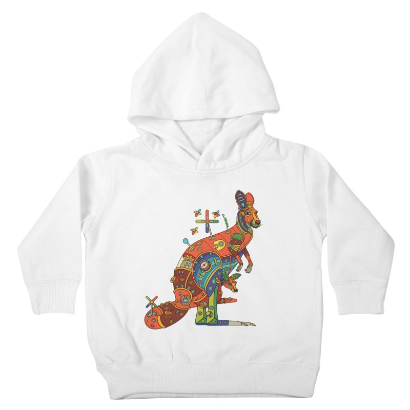 Kangaroo, cool art from the AlphaPod Collection Kids Toddler Pullover Hoody by AlphaPod