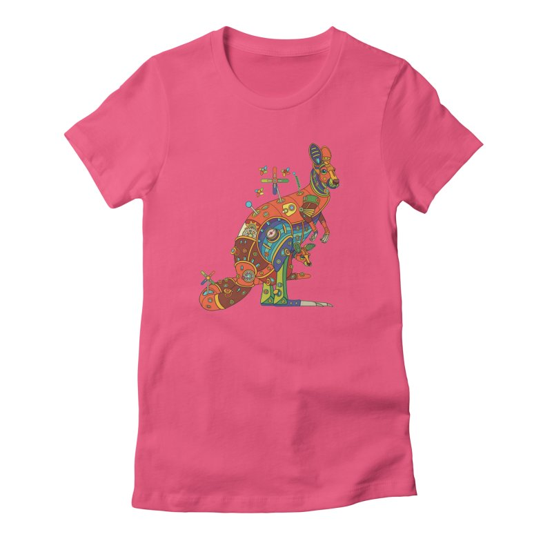Kangaroo, cool art from the AlphaPod Collection Women's T-Shirt by AlphaPod