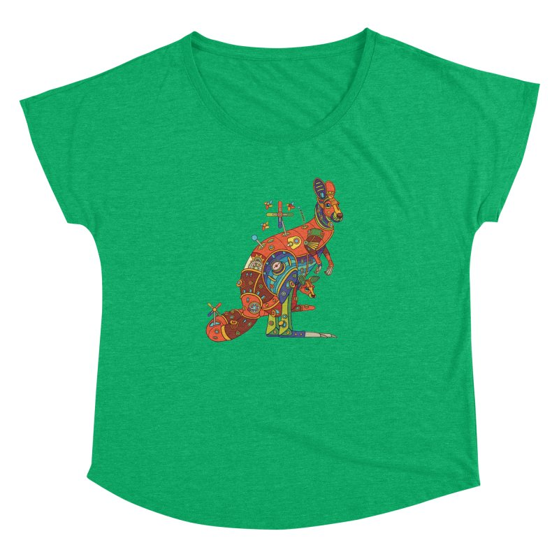 Kangaroo, cool art from the AlphaPod Collection Women's Dolman by AlphaPod