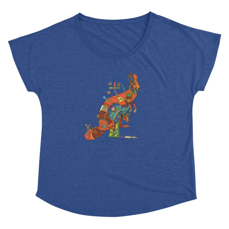Kangaroo, cool art from the AlphaPod Collection Women's Dolman Scoop Neck by AlphaPod