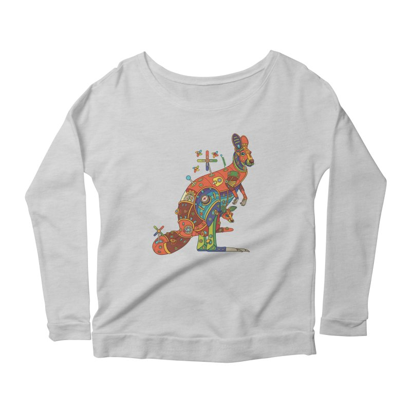 Kangaroo, cool art from the AlphaPod Collection Women's Scoop Neck Longsleeve T-Shirt by AlphaPod