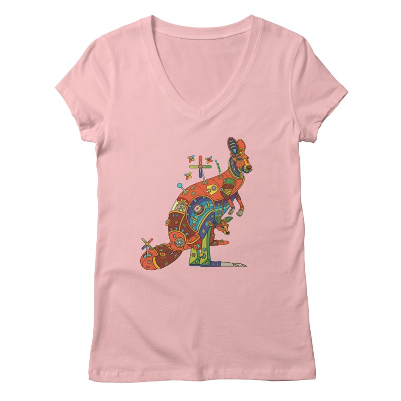 Kangaroo, cool art from the AlphaPod Collection Women's V-Neck by AlphaPod