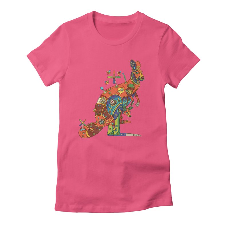 Kangaroo, cool art from the AlphaPod Collection Women's Fitted T-Shirt by AlphaPod