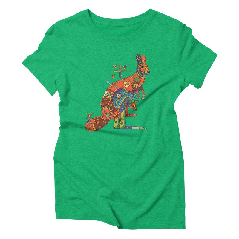 Kangaroo, cool wall art for kids and adults alike Women's Triblend T-shirt by AlphaPod