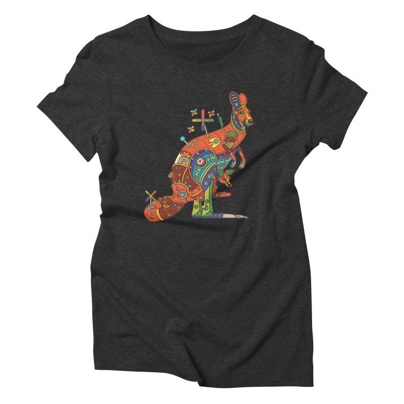 Kangaroo, cool art from the AlphaPod Collection Women's Triblend T-Shirt by AlphaPod