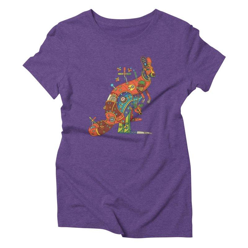 Kangaroo, cool art from the AlphaPod Collection Women's Triblend T-Shirt by AlphaPod