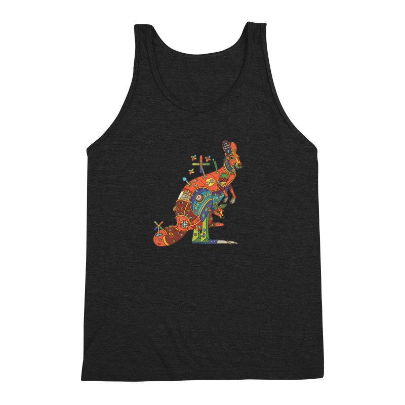 Kangaroo, cool art from the AlphaPod Collection Men's Tank by AlphaPod