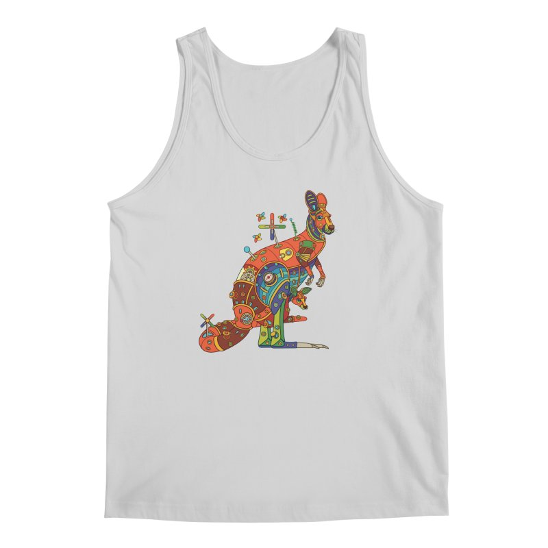 Kangaroo, cool art from the AlphaPod Collection Men's Regular Tank by AlphaPod