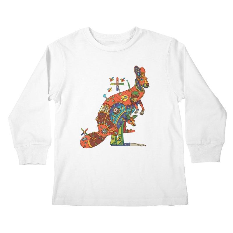 Kangaroo, cool art from the AlphaPod Collection Kids Longsleeve T-Shirt by AlphaPod
