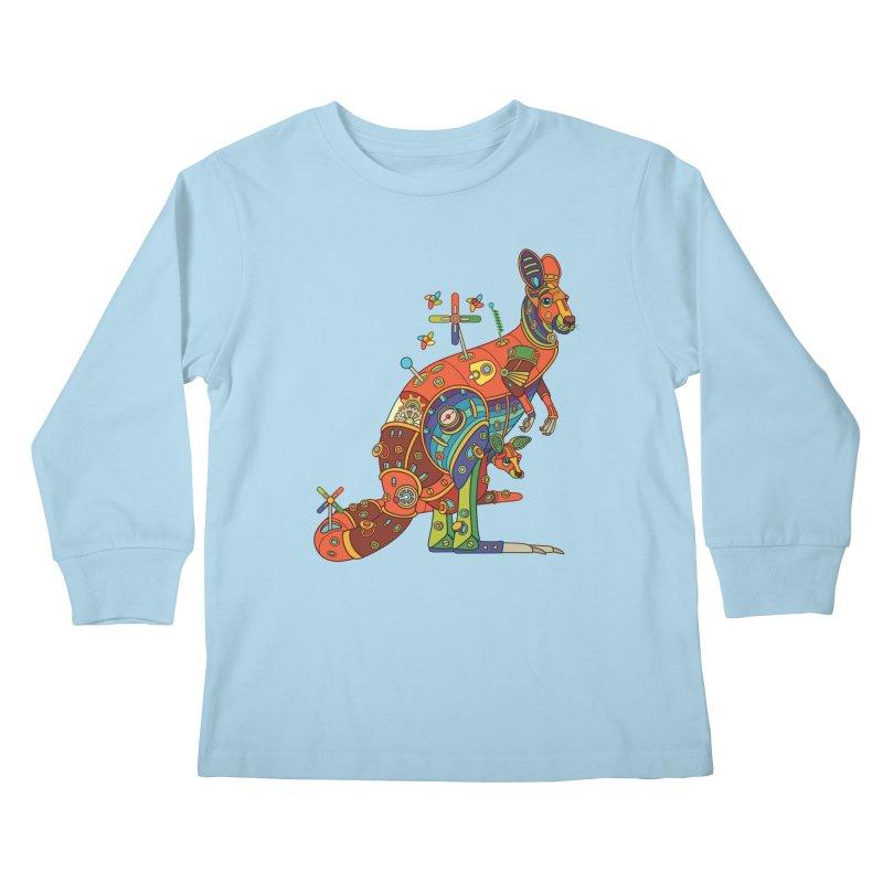 Kangaroo, cool wall art for kids and adults alike Kids Longsleeve T-Shirt by AlphaPod