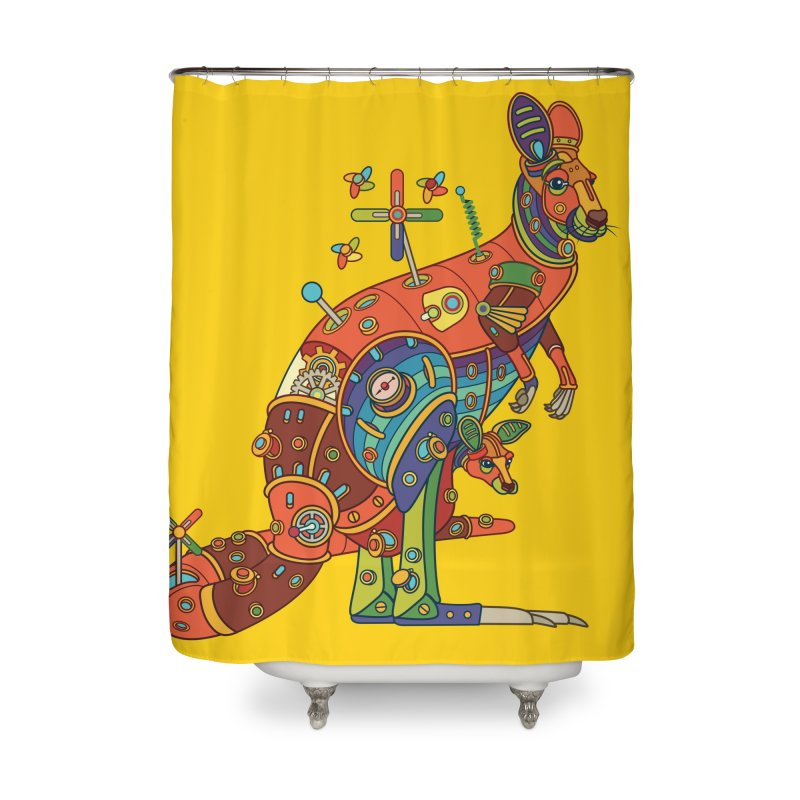 Kangaroo, cool art from the AlphaPod Collection Home Shower Curtain by AlphaPod