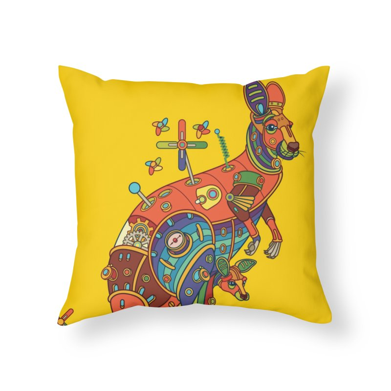 Kangaroo, cool art from the AlphaPod Collection Home Throw Pillow by AlphaPod