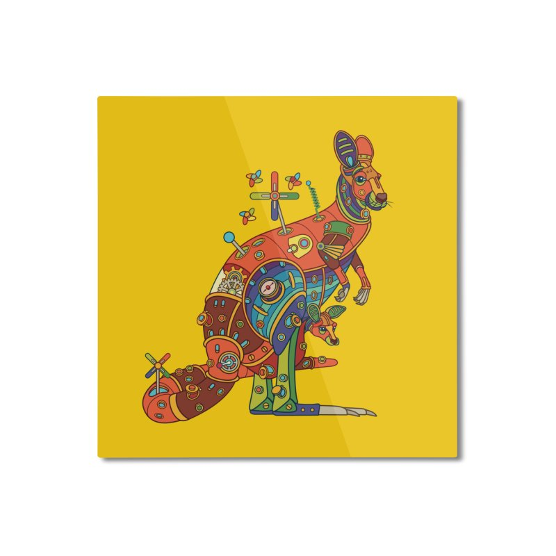 Kangaroo, cool art from the AlphaPod Collection Home Mounted Aluminum Print by AlphaPod