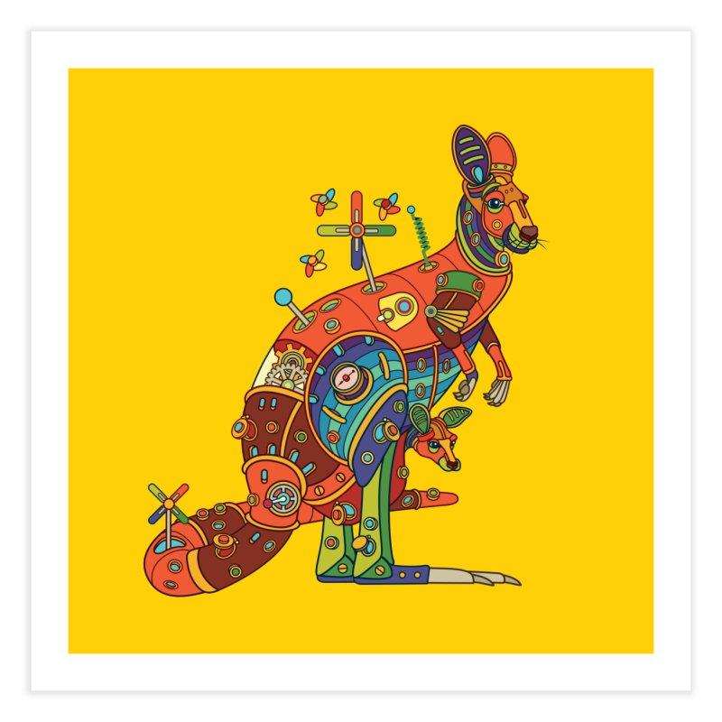 Kangaroo, cool art from the AlphaPod Collection Home Fine Art Print by AlphaPod